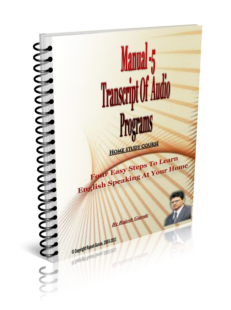 English speaking Transcript Of Audio Programs Book Cover